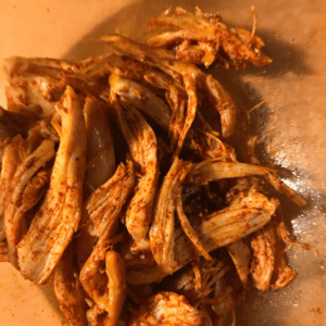smoked paprika and shredded chicken
