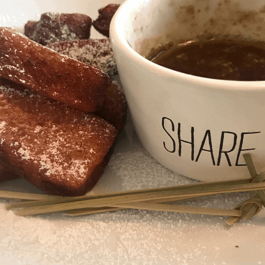 Crispy French Toast Bites with Melted Maple Syrup
