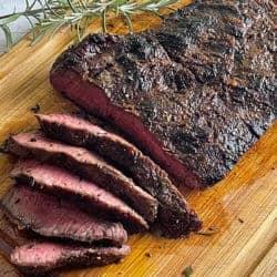 Flat-Iron-Steak on cutting board