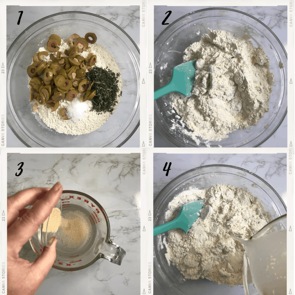 Rosemary and Olive Bread Process