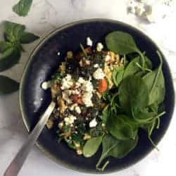 Scrambled-Eggs-with-Pesto-and-Goat-Cheese