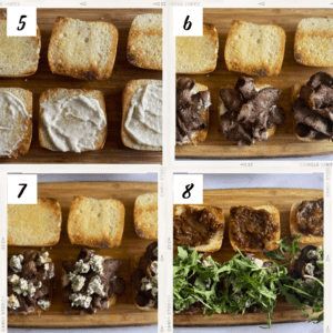 Steak Sliders with blue cheese steps 5-8