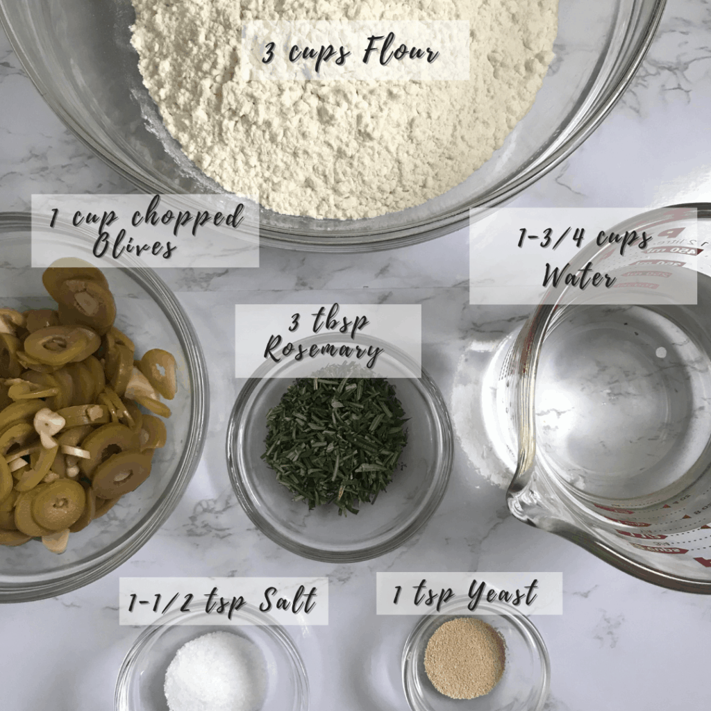 rosemary and olive bread ingredients