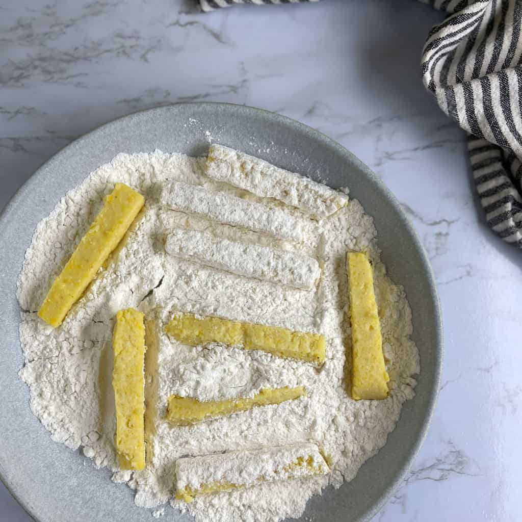 Polenta Fries in flour
