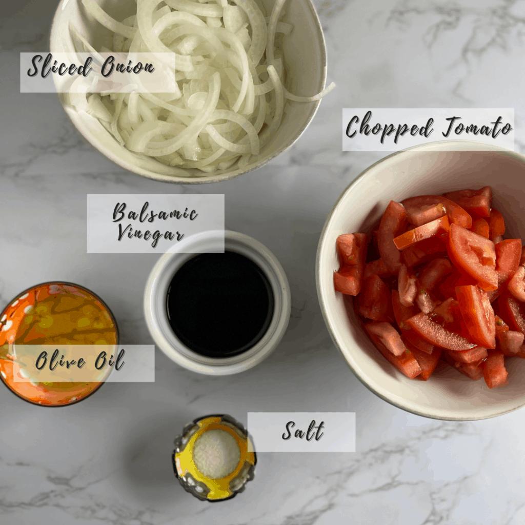 Tomato Onion Jam Ingredients